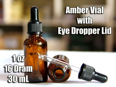 1 oz Tincture Vial with Dropper