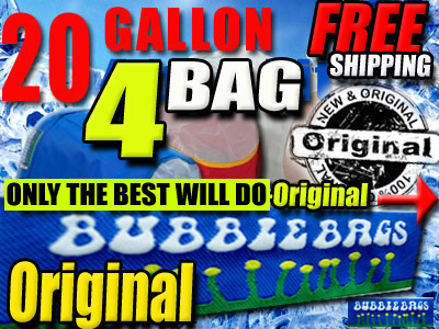 Bubble Bags | 20 Gallon 4 Bag Kit