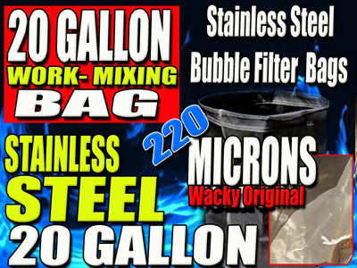 STAINLESS STEEL | 220 MICRON WORK BAG | 20 GALLON