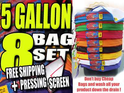 5 Gallon 8 Bag Wacky Filter Bag Set