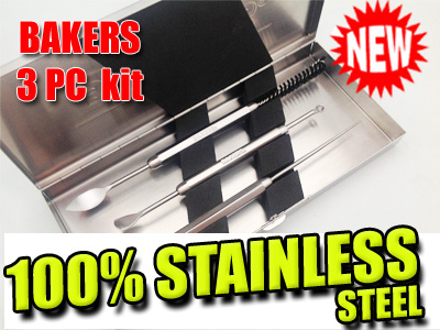 Bakers 3PC Tool Kit | Wax - Budder - Shatter - BHO