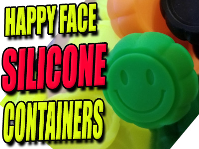 Happy Face Silicone Dab Keif Containers