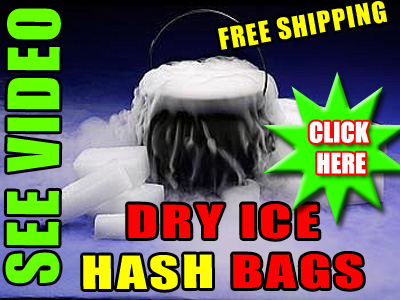 Dry Ice Hash Keif Extraction Bags