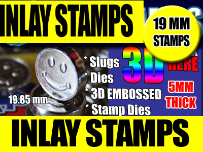 19 mm Press Inlay 3D Stamps