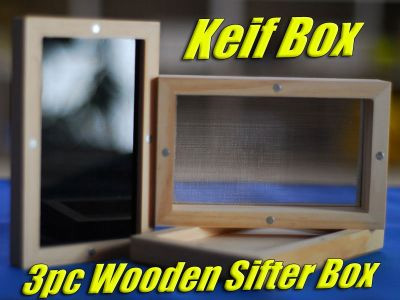 Dry Sift | Wooden Box | Keif Extract Screen