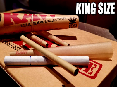 Raw Rolling Paper King Size Cones