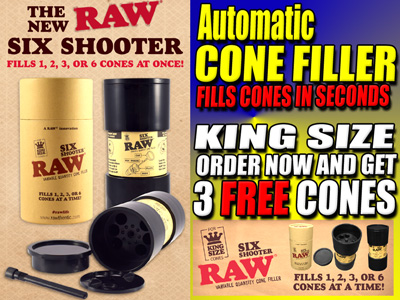 Raw Six Shooter Fill Cones In Seconds