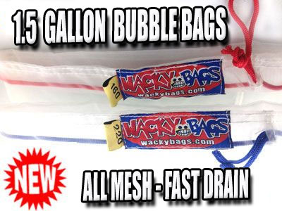 Small Dry Hash Ice Extraction Bags | 1.5 Gallon
