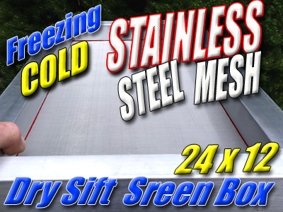 STAINLESS STEEL | DRY SIFT KEIF BOX | SCREEN SET