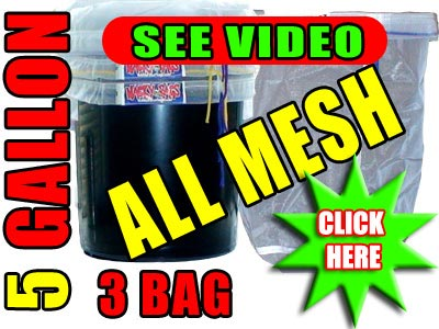 3 Bag All Mesh 5 Gallon Bubble Filter Bags