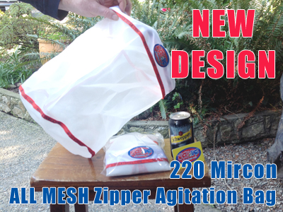 Large Zipper Hash Extraction Bag